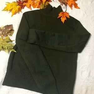ZARA Green Army KNIT Sweater Size M
